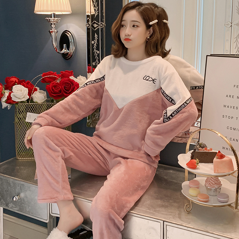 Betyline 2019 New Winter Pajamas For Women Sleepwear Warm Flannel Long Sleeves Pajamas Cute Animal Homewear Thick Homewear 133