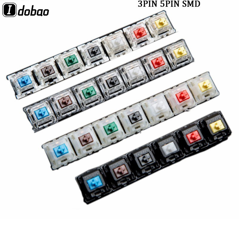Gateron Switch 3pin 5pin Smd Silent For Mechanical Keyboard Custom Cherry Mx Black Red Tea Kaihua Jiadalon Green Yellow Gaming