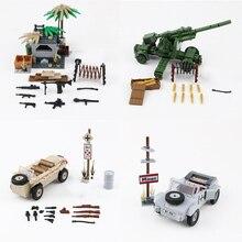Nieuwe WW2 Militaire Duitse Leger Soldaat Cijfers Blokken Speelgoed Typ 82 Kubelwagen Wapens Accessoires Bakstenen Blokken Speelgoed Voor Kinderen
