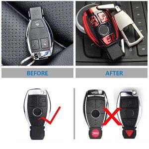 Image 4 - Abs Auto Nieuwe Auto Styling Afstandsbediening Sleutel Shell Key Case Cover Met Sleutelring Gesp Voor Mercedes Benz C klasse W205 Glc Gla