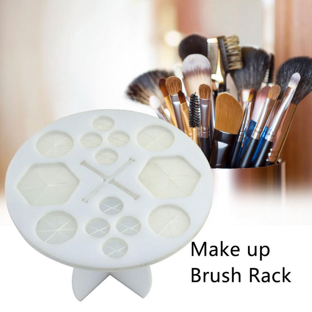 Novo 14 buraco escova de maquiagem titular