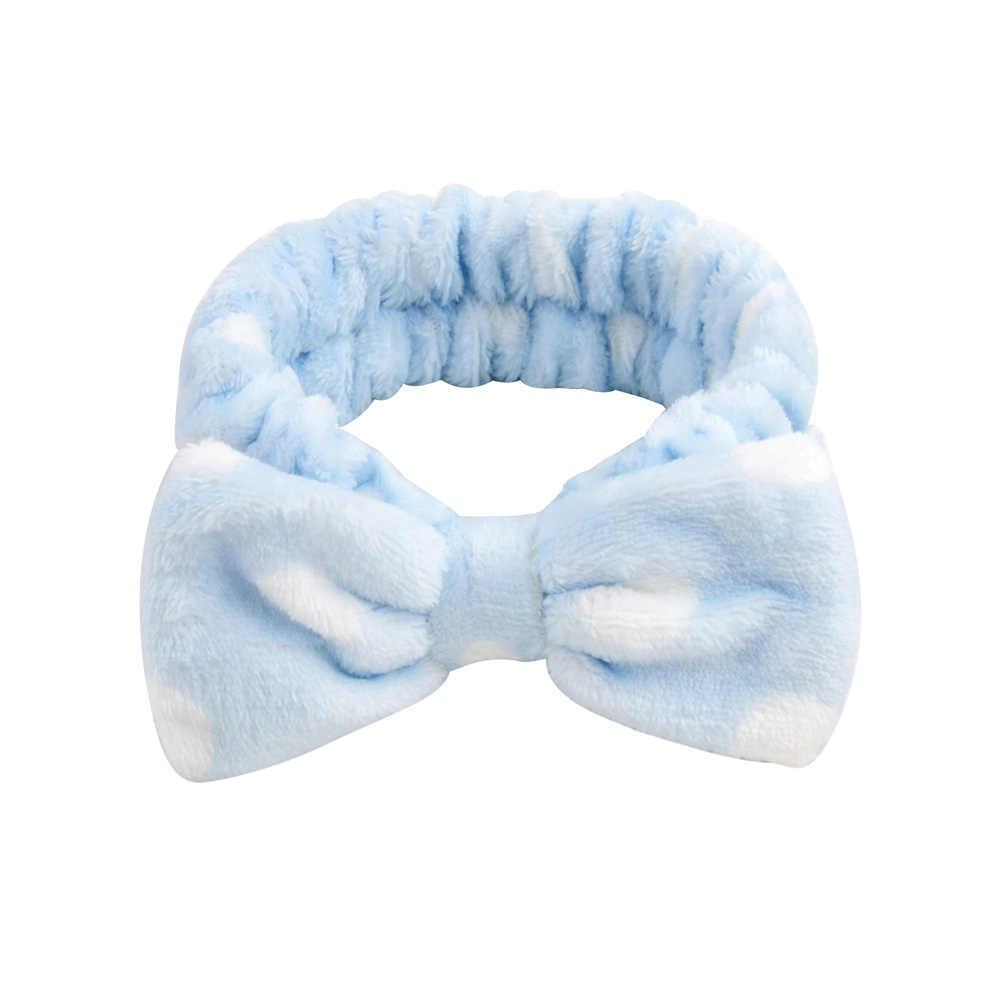 2019 neue OMG Brief Korallen Fleece Waschen Gesicht Bogen Stirnbänder Für Frauen Mädchen Stirnbänder Headwear Haar Bands Turban Haar Zubehör