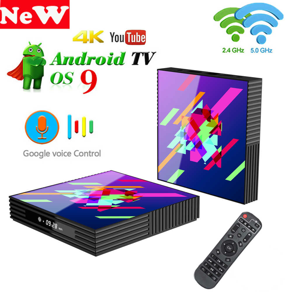 Smart TV BOX A95X Z2 + Android 9.0 RK3318 Quad Core 4GB RAM 64GB 2.4G & 5G WIFI 4K HD BT OTA médias Google Play SetTop Box PK H96MAX