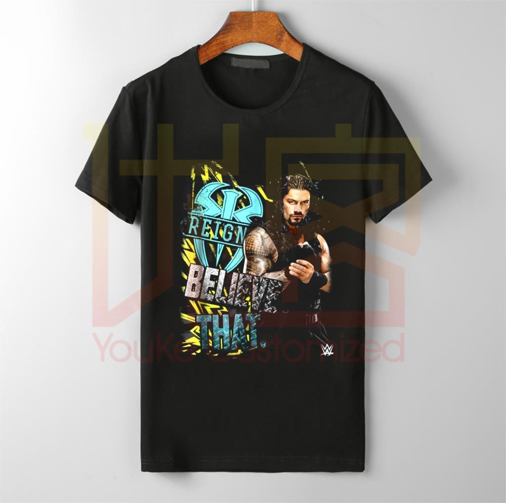 Roman Reigns Believe That T Shirt Black Men  Cool Casual pri…