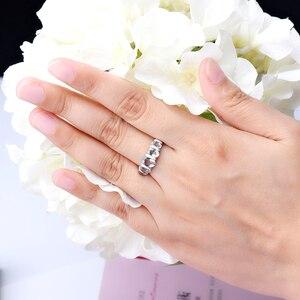 Image 5 - Hutang シルバーリング 925 ジュエリー、宝石 1.9ct アクアマリンリング女性のための石、婚約ウェディングブライダルリング