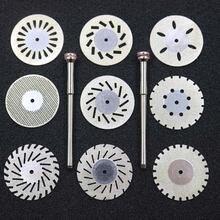 9 шт двусторонний алмазный режущий диск 020 мм для стоматологической