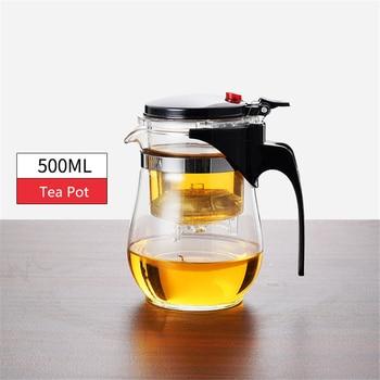 Théière en verre résistant à la chaleur, tasses de thé, 15