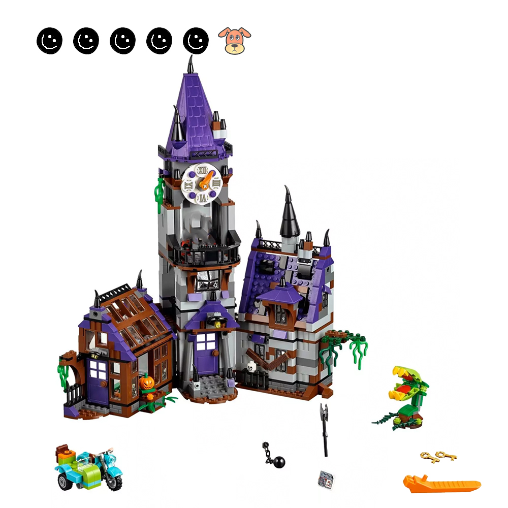 Fit Scooby Doo 75904 Movies Mystery Mansion Set Dog Ghost Mini Figures Motorbike DIY Building Blocks