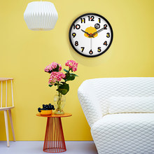 Duck Cartoon Clock Children's Rooms Bedrooms Living Room Lovely Silence Creative Fashion Clock Fashion Modern Design Timer(China)