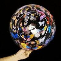 Globo con mariposas coloridas de 20 pulgadas, globo con mariposas de colores, decoración de fiesta