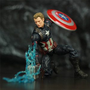 "Image 1 - נוקם סוף המשחק קפטן אמריקה 6 ""פעולה איור KO של ML אגדות Custom סטיבן רוג רס Mjolnir ראוי קפטן ראש בובה צעצועים"