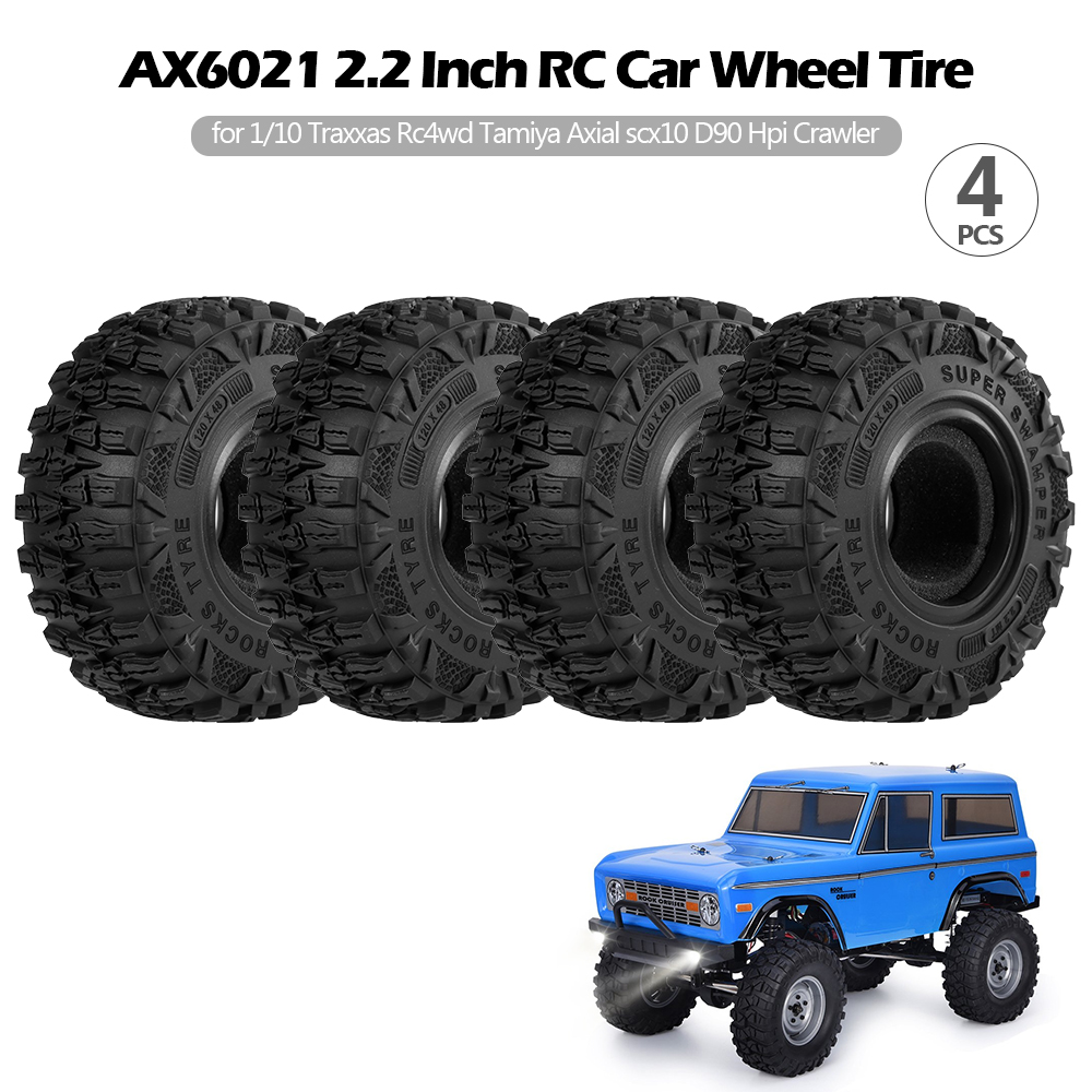 4PCS AX6021 <font><b>2.2</b></font> Inch Wheel <font><b>Tire</b></font> RC Car <font><b>Tire</b></font> for 1/10 Traxxas Hsp Redcat Rc4wd Tamiya Axial scx10 D90 Hpi Crawler image