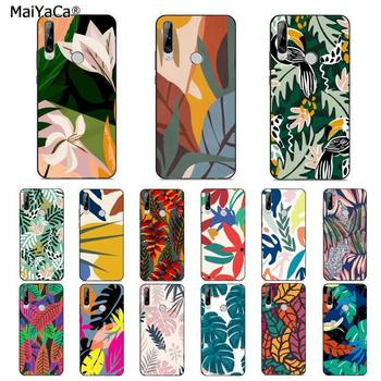MaiYaCa Fashion Tropical Retro Flower Leaf Luxury Phone Cover for huawei Y 7S 7 PRO 9 6 Y5 PRIME 2018 Y7 9 5 6 PRO 2019 image