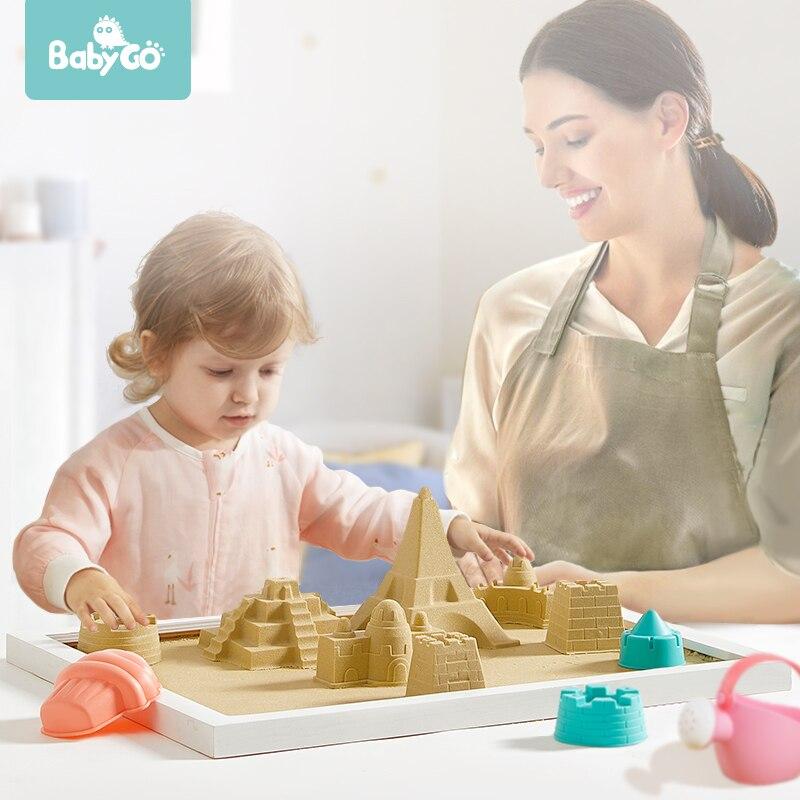 BabyGo 1 кг Крытый игровой песок Дети DIY игрушки натуральный латекс развивающие без пигмента глина волшебный пляжный Космический песок для детей|Пластилин| | АлиЭкспресс