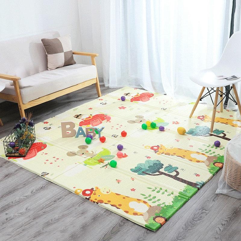 Hda17ba4c10fa47faa0b4e0340a18ba450 Thick Educational Children's Mat XPE Foldable Baby Mat Developing Kids Rug Road Game Playmat Soft Floor