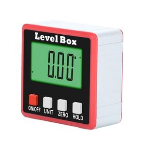 Image 2 - 360° Mini Digital Protractor High Precision Electronic Goniometer Inclinometer Digital Level Angle Finder Angle Measurement Box