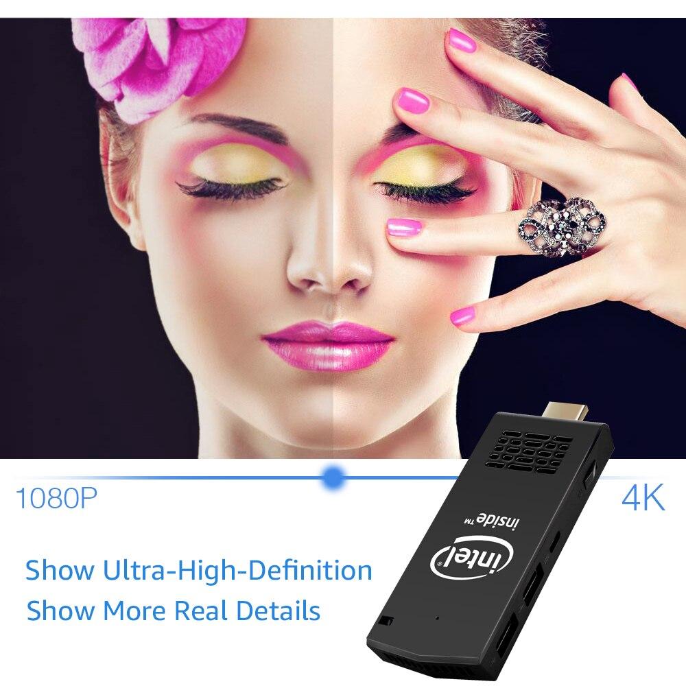 W5 Pro Pc Dongle Tv Box Intel X5 Z8350 Quad Core Win 10 Mini Pc Intel PC Stick