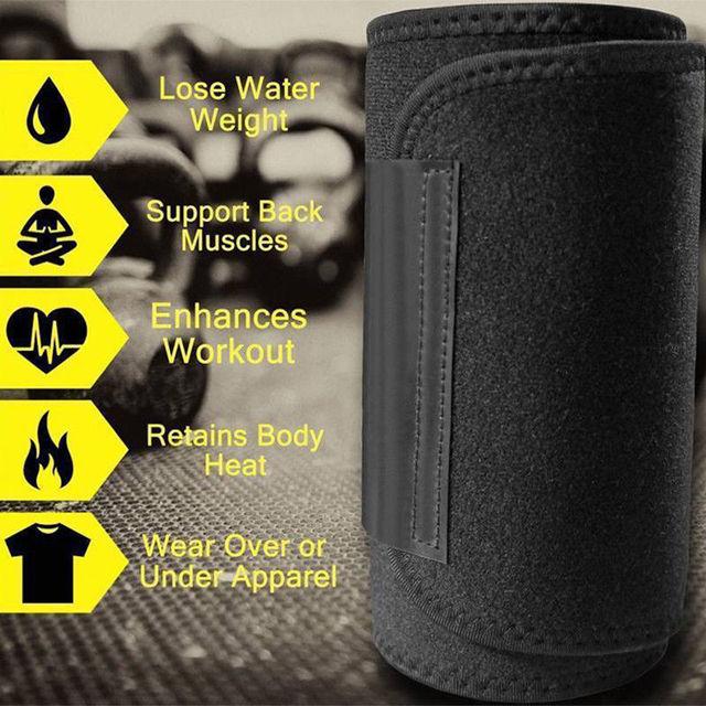 Waist Trainer Belt Women Men Body Shaper Suit Sweat Belt Premium Waist Trimmer Corset Shapewear Slimming Vest Underbust 4