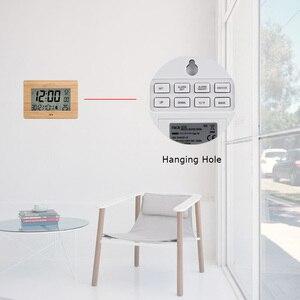 Image 3 - FanJu Kỹ Thuật Số Đồng Hồ LCD Lớn Số Lượng Lớn Nhiệt Độ Thời Gian Lịch Báo Động Bàn Đồng Hồ Để Bàn Hiện Đại Văn Phòng Thiết Kế Trang Trí Nhà