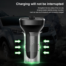 Car Bluetooth5.0 Wireless FM Transmitter MP3 Player 12-24V Audio Receiver Dual QC3.0 USB Fast Charging with Mic USB/TF Supported