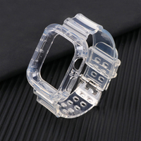 + Correa de reloj Apple apple Watch banda 44mm 40mm 42mm 38mm accesorios correa de silicona blanda transparente Apple watch Serie 6 iPhone 5 4 3