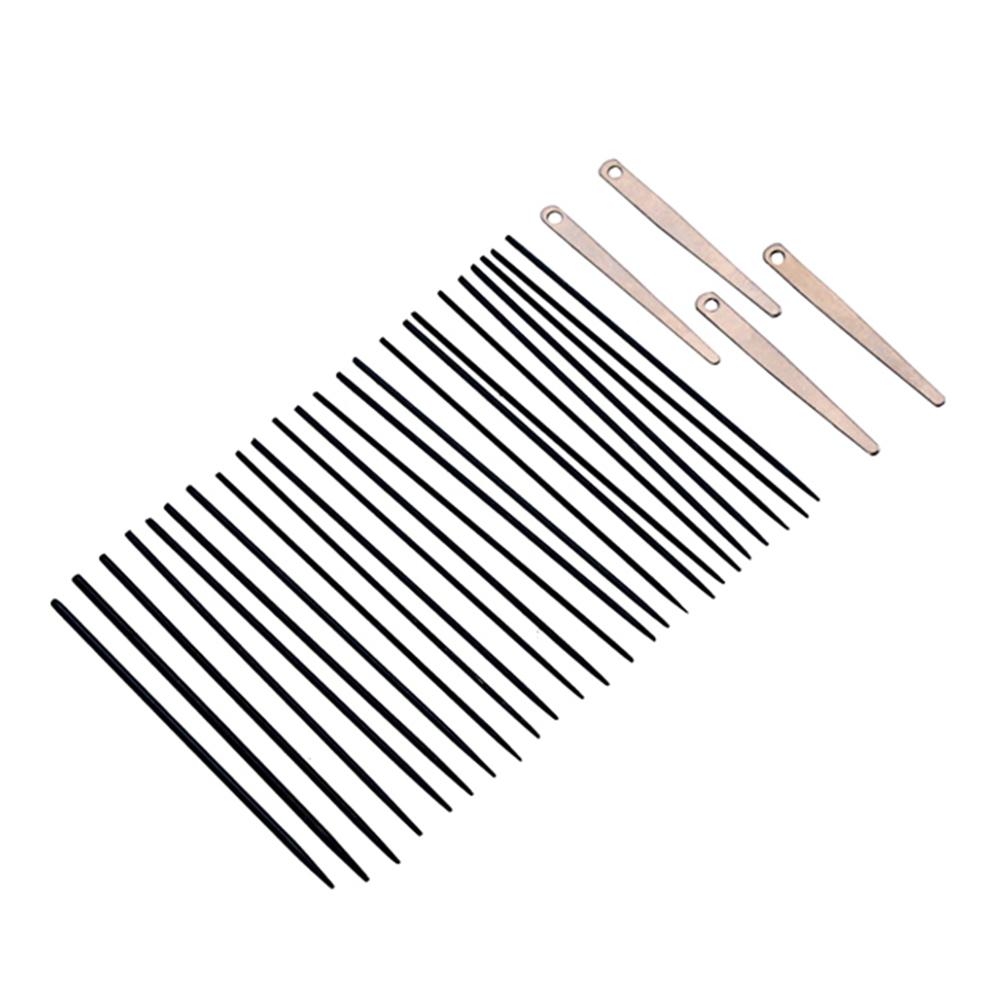 4pcs Saxophone Spring Leafs + 24pcs Sax Saxophone Spring Needles Set Woodwind Instrument Replacement Parts Accessories