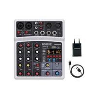 Mixer Audio Audio Console DJ Wireless USB 4 canali Audio scheda Audio USB compatibile Bluetooth ingresso Computer MP3