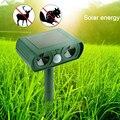 Отпугиватель солнечной энергии 0 12 А  Электронный ультразвуковой отпугиватель котов в виде животных  ультразвуковой отпугиватель собак  0 5 ...