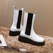 Sklfgxzy/женские ботинки из натуральной кожи; Цвет черный белый;