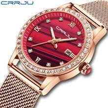 CRRJU Top Brand Luxury Women Watches Waterproof Fashion Ladies Watch Woman Quartz Wrist Watch Relogio Feminino Montre Femme