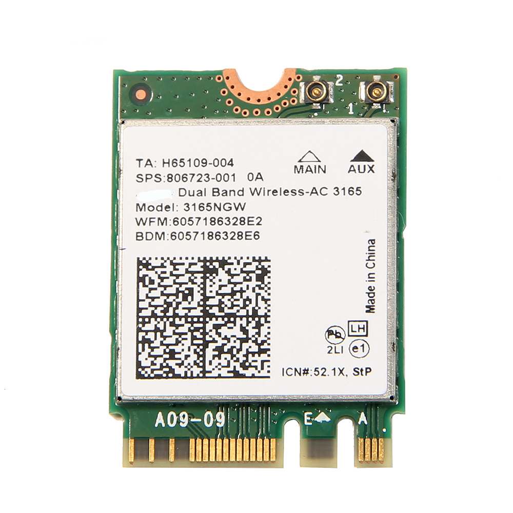 433M Wireless NGFF Network Wifi Card WithAC 3165 <font><b>3165NGW</b></font> Bluetooth 4.2 Dual Band 2.4GHz/5GHz 802.11ac For Windows7/8/10 image