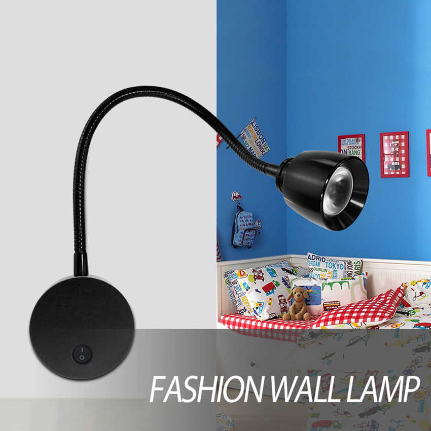 360 تدوير Led مرنة القراءة الجدار مصباح غرفة المعيشة التلفزيون حائط الخلفية ضوء غرفة نوم السرير الجدار مصباح صور مصباح RF80