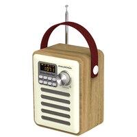 Bluetooth 5.0 LCD Display Stereo Clock FM Multifunctional Digital Radio Portable Retro MP3 Player DAB Speaker TF Card Slot Aux