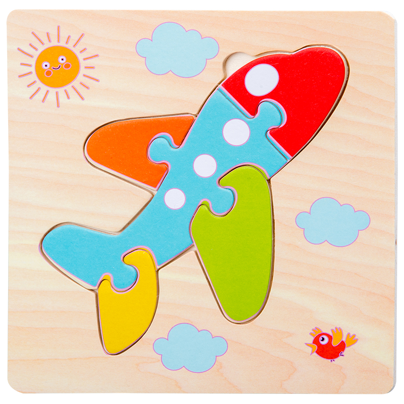 Baby Toys Wooden 3d Puzzle Tangram Shapes Learning Cartoon Animal Intelligence Jigsaw Puzzle Toys For Children Educational 19