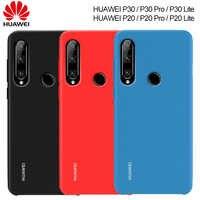 Huawei P30 P20 Lite Fall Original Offizielle Genuine Flüssige Silikon Soft Cover Huawei P30 Pro Lite Fall Stoßfest Zurück Fundas