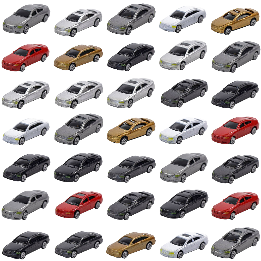 50pcs For HO Scale Kids Gift DIY Miniature Home Decoration Model Car Mini Durable Landscape Sand Table Scenery Diorama Static