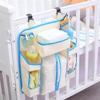 아기 침대 매달려 스토리지 가방 방수 장난감 기저귀 가방 다기능 침대 사이드 블루 주최자 유아 침구 세트 아기 용품|침구 세트|엄마와 아이 -