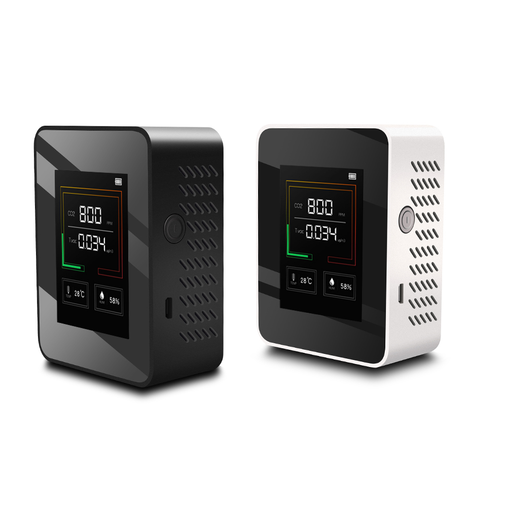 Внутренний монитор качества воздуха, ЖК-цифровой измеритель качества воздуха co2 в реальном времени, TFT интеллектуальный датчик качества воз...