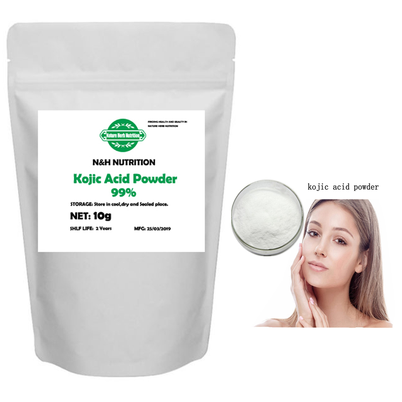 Pure 99% Cosmetic Grade Skin Whitening Kojic Acid Powder Skin Care Ingredients, Anti-aging, Skin Lightener