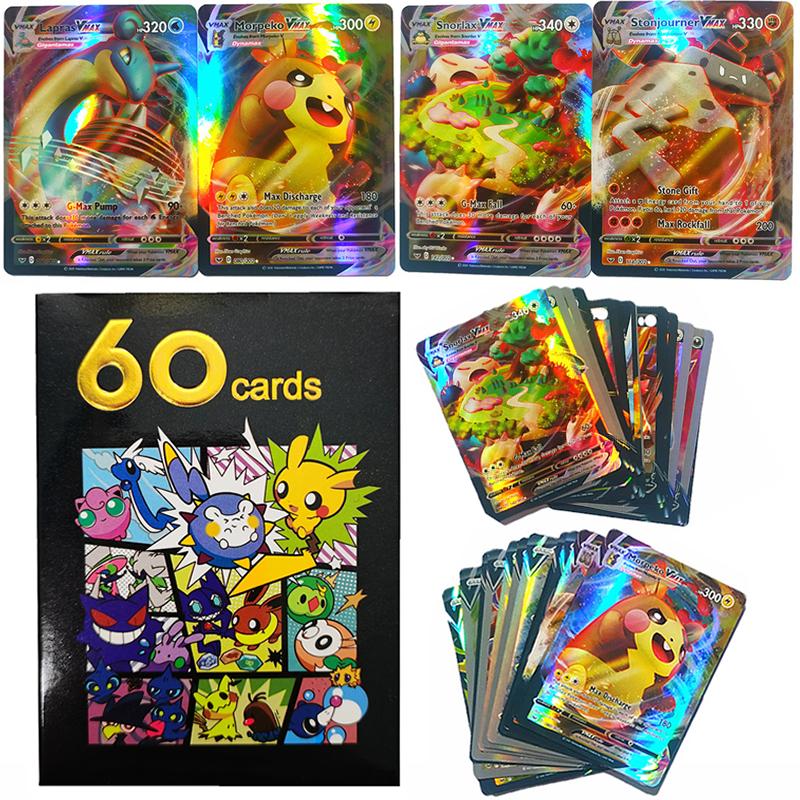 60 шт. английские карты Pokemon V VMAX Сияющие Такара Томи торговая Игра карточка битва карта коллекция бустер детская игрушка подарок