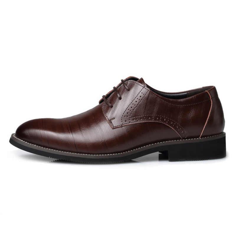 Giày Công Sở Nam Dự Tiệc Sang Trọng Cho Nam Cổ Điển Sang Trọng Thương Hiệu Trọng Nam Áo Cưới Zapatos De Vestir Hombre 789