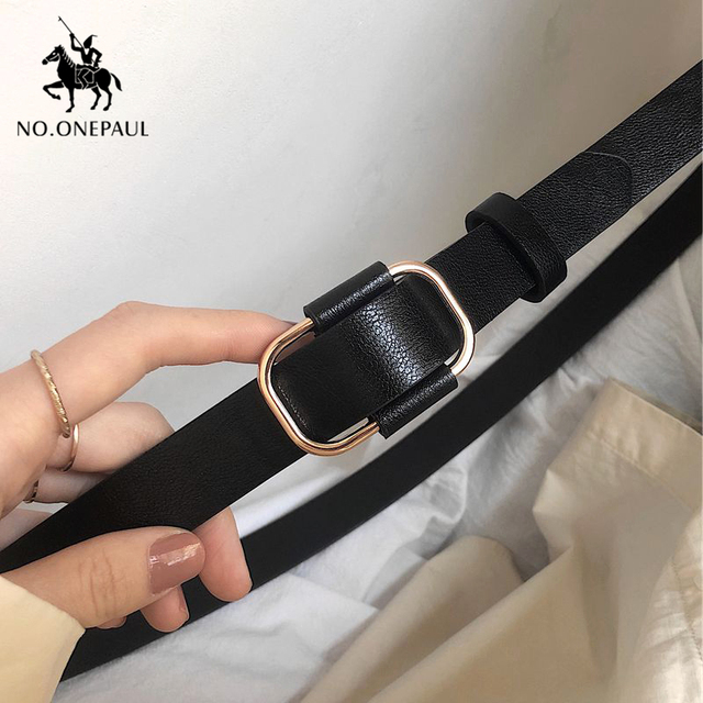 New fashion designer ladies luxury authentic leather belts 2