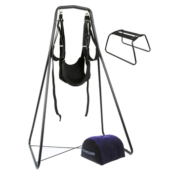 TOUGHAGE Couple Sex Furniture Floor Sex Swing Chair Pillow Adjustable Swing Frame Three-in-one Sex Toys For Couple Adult Product