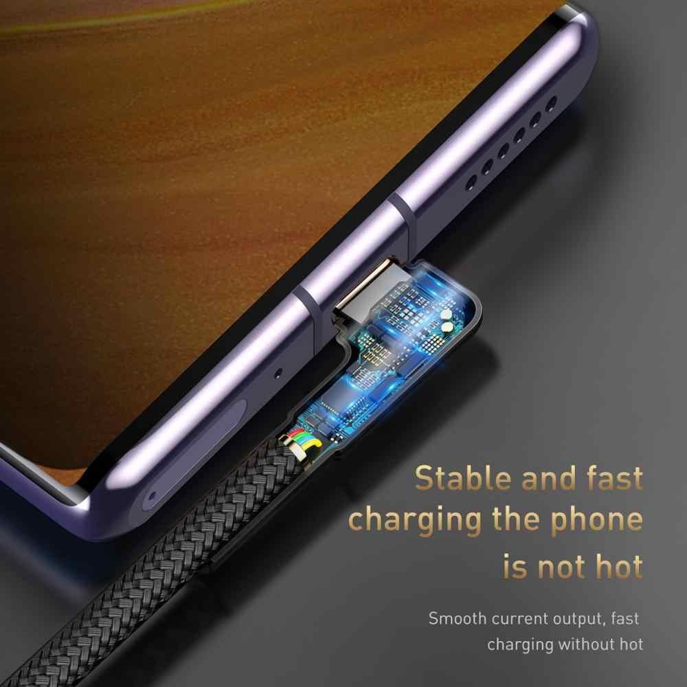Baseus USB סוג C כבל עבור Xiaomi Redmi הערה 9s 8 פרו מהיר תשלום 3.0 USB C כבל מהיר טעינה עבור סמסונג S20 סוג C כבל