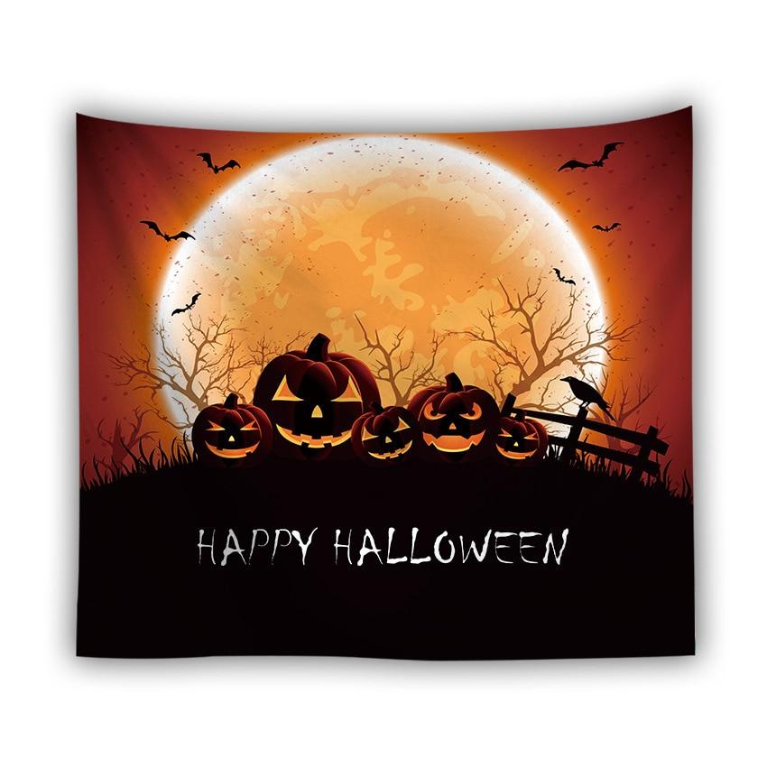 Серия Хэллоуин настенный гобелен из ткани корзинка для Хэллоуина Ужасный Призрак напечатанный настенный гобелен Grand скатерть вечерние украшения - Цвет: color7
