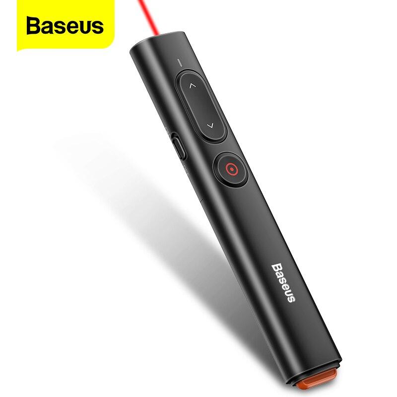Беспроводной пульт дистанционного управления Baseus, USB A и USB C адаптер, лазерная указка для проектора Powerpoint PPT
