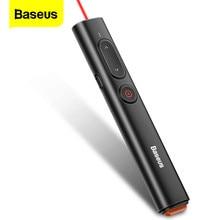 Baseus Draadloze Presenter Afstandsbediening Infrarood Presenter Pen Usb Een & Usb C Adapter Laser Pointer Voor Projector Powerpoint Ppt