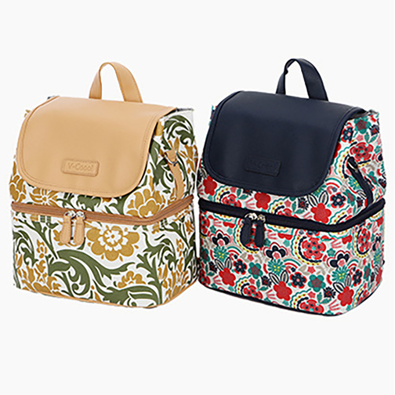 Large Maternity Bags Printing Insulation Bag Nappy Bag Mummy Backpack  Outdoor Picnic Shoulder Bags Waterproof BNA039