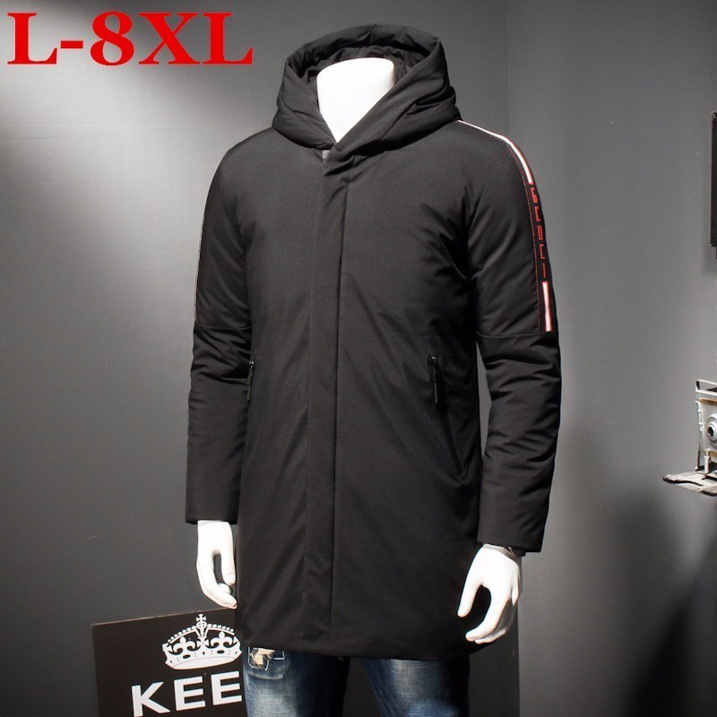 New Plus Size 8XL 7XL 6XL Men's Winter Warm Jacket Hooded Slim Casual Coat Cotton-padded Jacket Parka Overcoat Hoodie Thick Coat