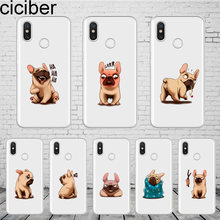 ciciber Cartoon Bulldog Cover For Xiaomi MIX MAX 3 2 1 S MI A2 A1 9 8 6 5 X 5C 5S Plus Lite SE Pro Pocophone F1 Phone Case Funda(China)